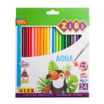 Карандаши цветные ZiBi KIDS Line АКВАРЕЛЬ 24шт (ZB.2476)