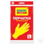 Перчатки БОНУС универсальные резиновые L (bn.84824)
