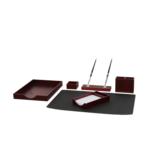 Набор настольный деревянный Bestar, 6 предметов, красное дерево (6144FDU)