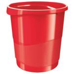 Корзина для бумаги Esselte Vivida 14 л пластиковая, красная (623947)