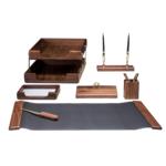 Набор настольный деревянный Bestar, 7 предметов, темный орех (7238WDN)