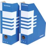 Накопитель для бумаг Donau, А4, 100 мм, картон, синий (7648001PL-10)