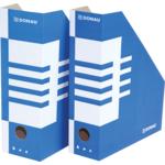 Накопитель для бумаг Donau, А4, 80 мм, картон, синий (7649001PL-10)