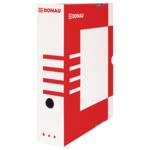 Бокс для архивации документов Donau, 80 мм, красный (7660301PL-04)