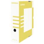 Бокс для архивации документов Donau, 80 мм, желтый (7660301PL-11)