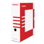 Бокс для архивации документов Donau, 100 мм, красный (7661301PL-04)