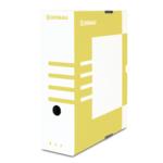 Бокс для архивации документов Donau, 100 мм, желтый (7661301PL-11)