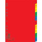 Цифровой индекс-разделитель для регистраторов Donau, А4, 10 позиций, цветной (7712095)