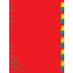 Цифровой индекс-разделитель для регистраторов Donau, А4, 31 позиция, цветной (7736095)