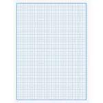 Бумага миллиметровая Графика, А4, 100 л, синий (7B09)