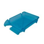 Лоток горизонтальный Арника Компакт JobMax 80605, пластик, голубой