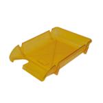 Лоток горизонтальный Арника Компакт JobMax 80606, пластик, лимонный