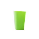 Стакан пластиковый для письменных принадлежностей (творчества) Arnika квадратный 8х8х11,7 см Зеленый (81664)