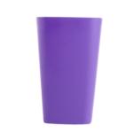 Стакан пластиковый для письменных принадлежностей (творчества) Arnika квадратный 8х8х11,7 см Фиолетовый (81667)