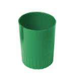 Стакан пластиковый для ручек Арника, непрозрачный, зеленый (81870)