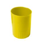 Стакан пластиковый для ручек Арника, непрозрачный, желтый (81873)