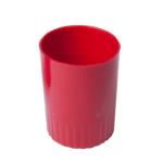 Стакан пластиковый для ручек Арника, непрозрачный, красный (81875)
