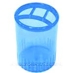 Стакан-подставка пластиковый Арника, 4 отделения, голубой (81976)