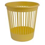 Корзина для бумаг Арника, 10 л, пластик, желтый (82065)