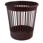 Корзина для бумаг Арника, 10 л, пластик, коричневый (82067)