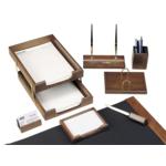 Набор настольный деревянный Bestar, 8 предметов, орех (8259XDX)