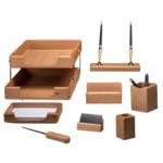 Набор настольный деревянный Bestar, 8 предметов, светлый дуб (8280HDN)