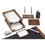 Набор настольный деревянный Bestar, 8 предметов, орех (8280WDN)