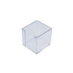 Бокс для бумаги Арника, 90х90х90 мм, прозрачный (83032)