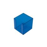 Бокс для бумаги Арника, 90х90х90 мм, голубой (83035)