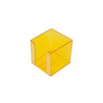 Бокс для бумаги Арника, 90х90х90 мм, лимонный (83036)