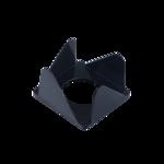 Бокс для бумаги Арника, 80х80х45 мм, черный (83051)