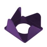 Бокс для бумаги Арника, 80х80х45 мм, фиолетовый (83052)
