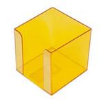 Бокс для бумаги Арника, 80х80х45 мм, желтый (83053)