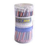 Карандаш графитовый Buromax Silver НВ трехгранный с ластиком (BM.8510-100)