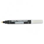 Маркер водостойкий Centropen Permanent 8586, 2,5 мм, белый