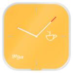 Настенные часы со стеклянным циферблатом Leitz Cosy, желтые (9017-00-19)