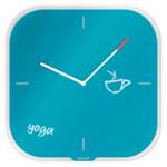 Настенные часы со стеклянным циферблатом Leitz Cosy, синие (9017-00-61)
