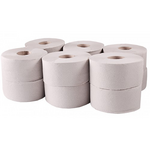 Бумага туалетная Tischa Papier Джамбо Basic 135 м на гильзе 12 рул/уп (B101)