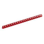 Пружины пластиковые Buromax, 10 мм, красный, 100 шт (BM.0502-05)
