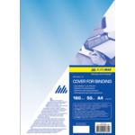 Обложки пластиковые Buromax, прозрачные, синие, А4, 180 мкн, 50 шт (BM.0560-02)
