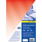 Обложки пластиковые Buromax, прозрачные, красные, А4, 180 мкн, 50 шт (BM.0560-05)