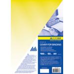 Обложки пластиковые Buromax, прозрачные, желтые, А4, 180 мкн, 50 шт (BM.0560-08)