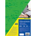 Обложки картонные Buromax, под кожу, зеленый, А4, 250 г/м2, 50 шт (BM.0580-04)