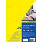 Обложки картонные Buromax, под кожу, желтый, А4, 250 г/м2, 50 шт (BM.0580-08)