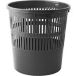 Корзина для бумаг с прорезями Buromax, 8 л, пластик, черная (BM.1920-01)