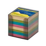 Бокс с цветной бумагой Buromax, 90х90х90 мм, 1000 л, дымчатый (BM.2291-02)