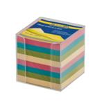 Бокс с цветной бумагой Buromax, 90х90х90 мм, 1000 л, прозрачный (BM.2291-03)