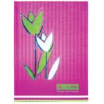 Книга канцелярская Buromax Цветы, А4, 80 л, клетка, розовый (BM.2300-610)