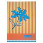 Книга канцелярская Buromax Цветы, А4, 80 л, клетка, оранжевый (BM.2300-611)