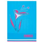 Книга канцелярская Buromax Цветы, А4, 80 л, клетка, голубой (BM.2300-614)